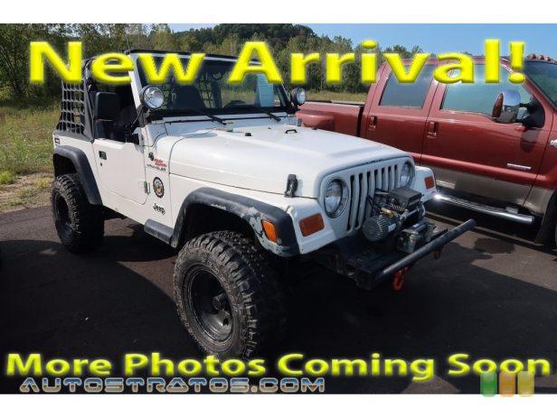1997 Jeep Wrangler SE 4x4 2.5 Liter OHV 8-Valve 4 Cylinder 3 Speed Automatic