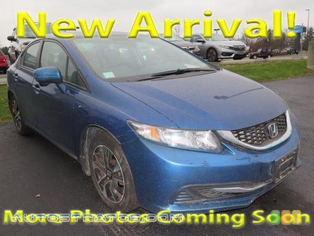 2014 Honda Civic EX Sedan 1.8 Liter SOHC 16-Valve i-VTEC 4 Cylinder CVT Automatic