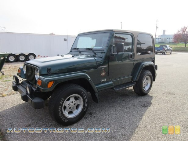 2000 Jeep Wrangler Sahara 4x4 4.0 Liter OHV 12-Valve Inline 6 Cylinder 3 Speed Automatic