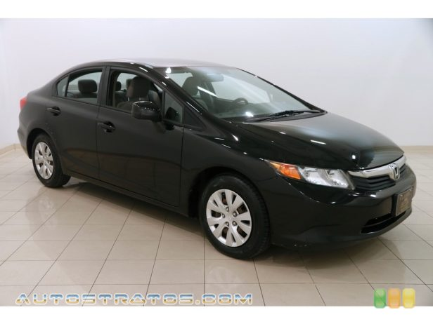 2012 Honda Civic LX Sedan 1.8 Liter SOHC 16-Valve i-VTEC 4 Cylinder 5 Speed Automatic