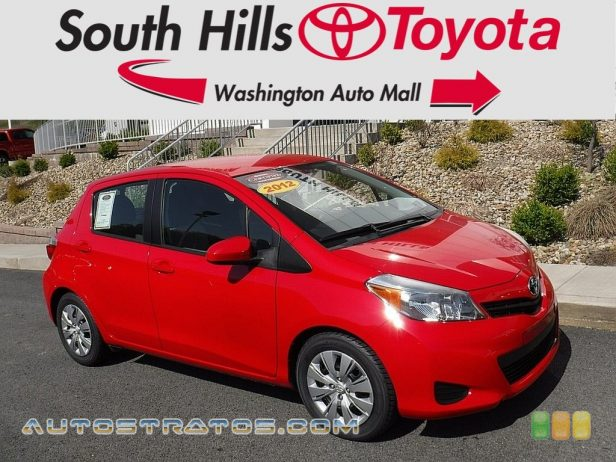 2012 Toyota Yaris LE 5 Door 1.5 Liter DOHC 16-Valve VVT-i 4 Cylinder 4 Speed Automatic
