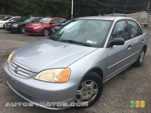 2001 Honda Civic LX Sedan 1.7L SOHC 16V 4 Cylinder 4 Speed Automatic