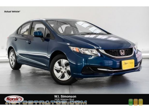 2013 Honda Civic LX Sedan 1.8 Liter SOHC 16-Valve i-VTEC 4 Cylinder 5 Speed Automatic