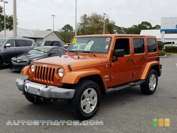 2011 Jeep Wrangler Unlimited Sahara 4x4 3.8 Liter OHV 12-Valve V6 4 Speed Automatic