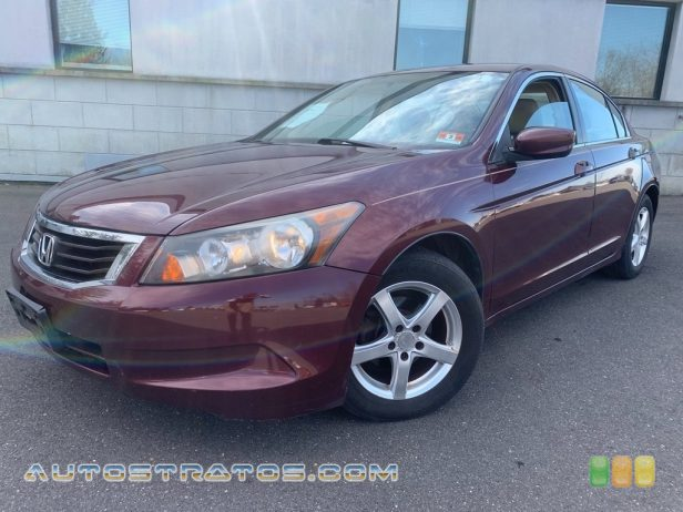 2008 Honda Accord LX Sedan 2.4 Liter DOHC 16-Valve i-VTEC 4 Cylinder 5 Speed Automatic