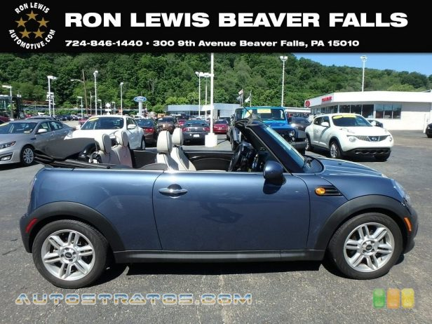 2011 Mini Cooper Convertible 1.6 Liter DOHC 16-Valve VVT 4 Cylinder 6 Speed Steptronic Automatic