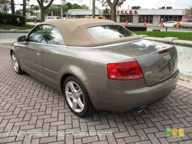 2008 Audi A4 2.0T Cabriolet 2.0 Liter FSI Turbocharged DOHC 16-Valve VVT 4 Cylinder Multitronic CVT Automatic