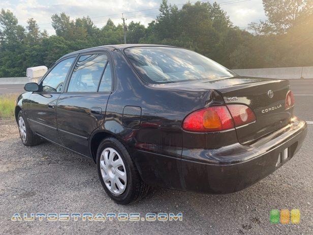 2001 Toyota Corolla LE 1.8 Liter DOHC 16-Valve VVT-i 4 Cylinder 4 Speed Automatic