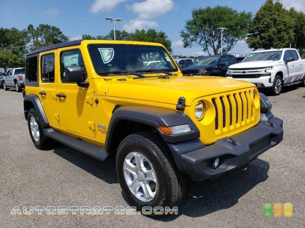 2020 Jeep Wrangler Unlimited Sport 4x4 3.6 Liter DOHC 24-Valve VVT V6 8 Speed Automatic