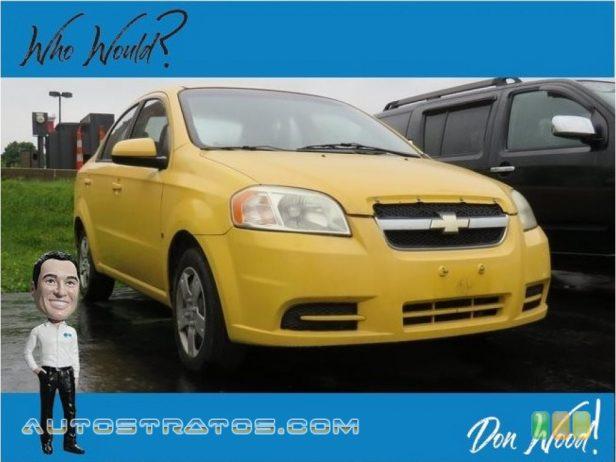 2009 Chevrolet Aveo LT Sedan 1.6 Liter DOHC 16-Valve VVT Ecotec 4 Cylinder 4 Speed Automatic