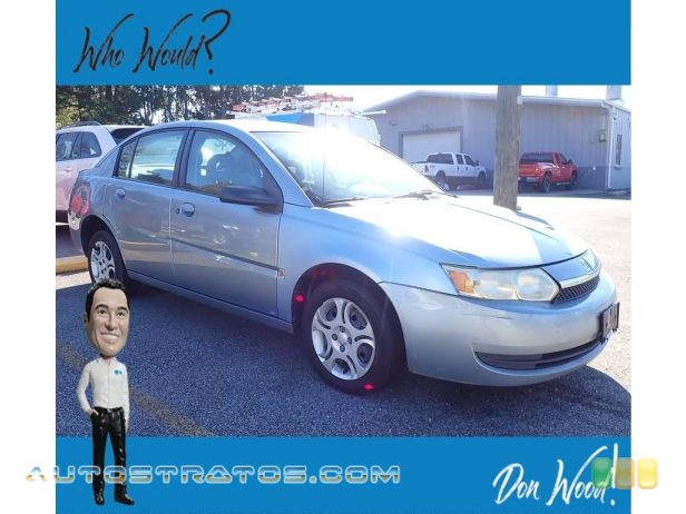 2003 Saturn ION 2 Sedan 2.2 Liter DOHC 16-Valve 4 Cylinder 5 Speed Automatic
