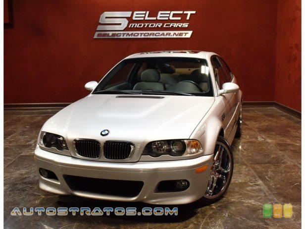2002 BMW M3 Coupe 3.2 Liter DOHC 24-Valve VVT Inline 6 Cylinder 6 Speed Manual