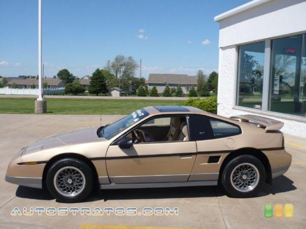 Pontiac Fiero Gt 1986. 1986 Pontiac Fiero GT 2.8