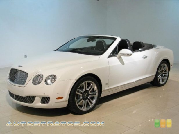 2011 Bentley Continental GTC Speed 80-11 Edition 6.0 Liter Twin-Turbocharged DOHC 48-Valve VVT W12 6 Speed Automatic