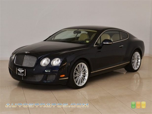 2010 Bentley Continental GT Speed 6.0 Liter Twin-Turbocharged DOHC 48-Valve VVT W12 6 Speed Automatic