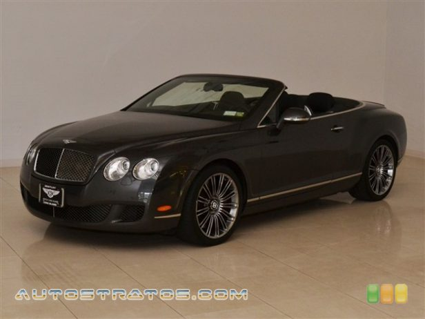 2010 Bentley Continental GTC Speed 6.0 Liter Twin-Turbocharged DOHC 48-Valve VVT W12 6 Speed Automatic