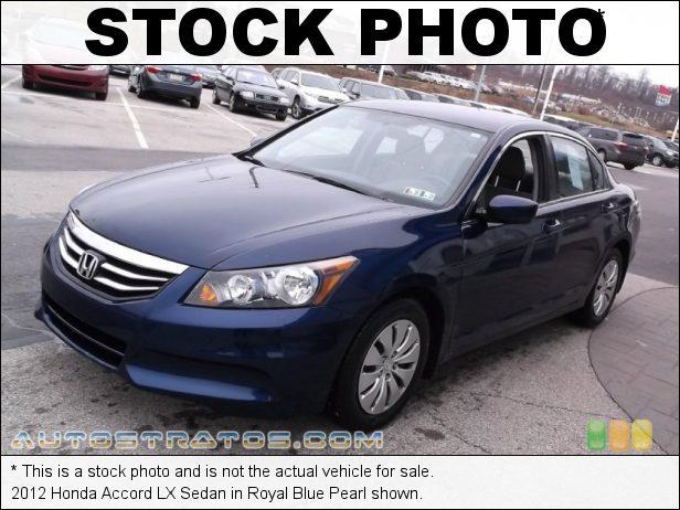 Stock photo for this 2012 Honda Accord LX Sedan 2.4 Liter DOHC 16-Valve i-VTEC 4 Cylinder 5 Speed Automatic