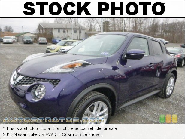 Stock photo for this 2015 Nissan Juke SV AWD 1.6 Liter DIG Turbocharged DOHC 16-Valve CVTCS 4 Cylinder Xtronic CVT Automatic