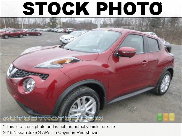 Stock photo for this 2015 Nissan Juke S AWD 1.6 Liter DIG Turbocharged DOHC 16-Valve CVTCS 4 Cylinder Xtronic CVT Automatic