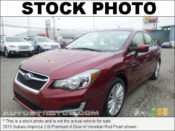 Stock photo for this 2015 Subaru Impreza 2.0i Premium 4 Door 2.0 Liter DOHC 16-Valve VVT Horizontally Opposed 4 Cylinder Lineartronic CVT Automatic