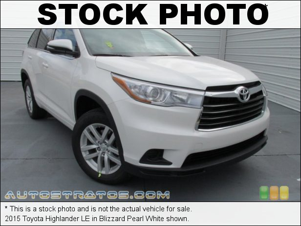 Stock photo for this 2015 Toyota Highlander LE 2.7 Liter DOHC 16-Valve Dual VVT-i 4 Cylinder 6 Speed Automatic