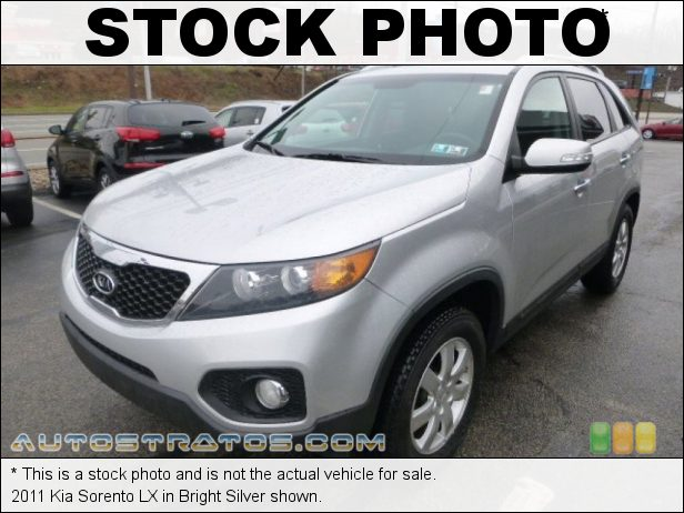 Stock photo for this 2011 Kia Sorento LX 2.4 Liter DOHC 16-Valve Dual CVVT 4 Cylinder 6 Speed Sportmatic Automatic