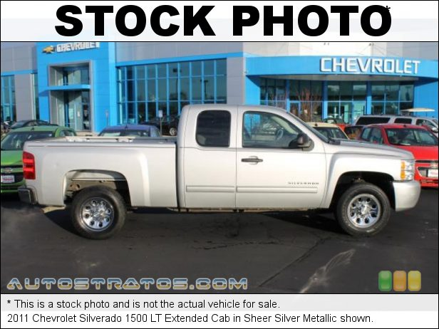 Stock photo for this 2011 Chevrolet Silverado 1500 LT Extended Cab 5.3 Liter Flex-Fuel OHV 16-Valve VVT Vortec V8 6 Speed Automatic