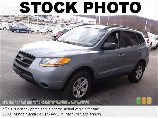 Stock photo for this 2009 Hyundai Santa Fe GLS 4WD 2.7 Liter DOHC 24-Valve V6 4 Speed Shiftronic Automatic