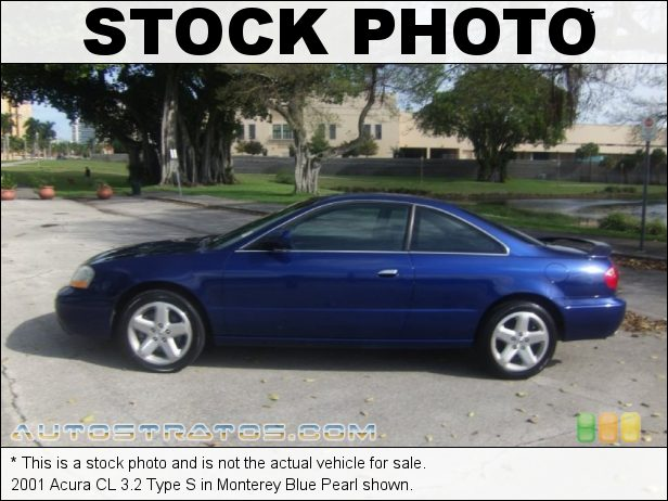 Stock photo for this 2001 Acura CL 3.2 Type S 3.2 Liter SOHC 24-Valve V6 5 Speed Automatic