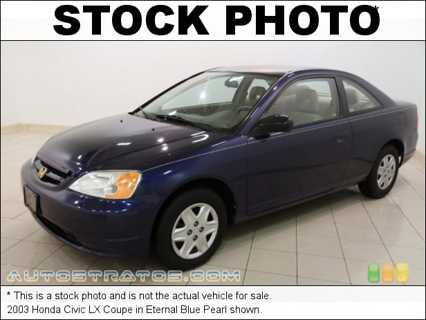 Stock photo for this 2003 Honda Civic LX Coupe 1.7 Liter SOHC 16V 4 Cylinder 4 Speed Automatic