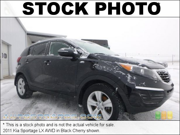 Stock photo for this 2011 Kia Sportage LX AWD 2.4 Liter DOHC 16-Valve CVVT 4 Cylinder 6 Speed Automatic