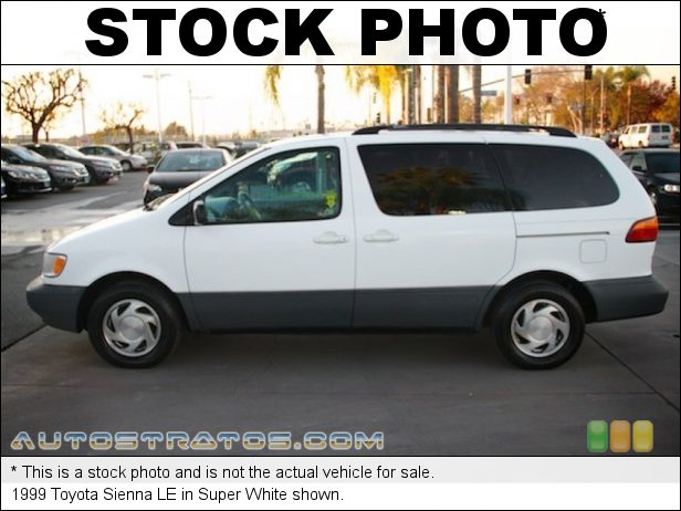 Stock photo for this 1999 Toyota Sienna LE 3.0 Liter DOHC 24-Valve V6 4 Speed Automatic