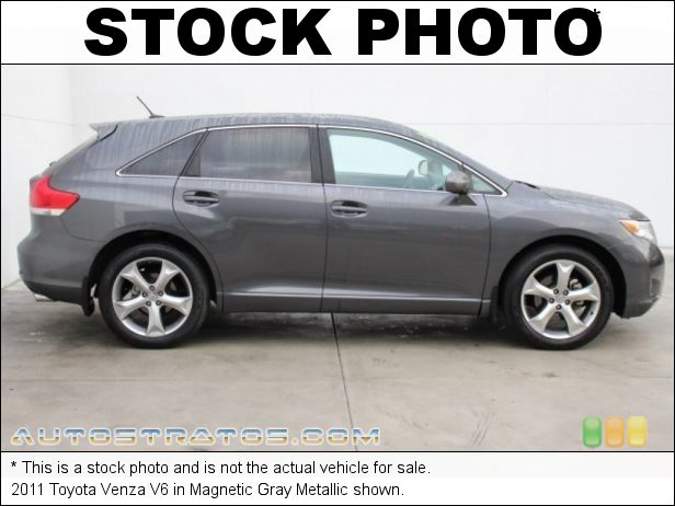 Stock photo for this 2011 Toyota Venza V6 3.5 Liter DOHC 24-Valve Dual VVT-i V6 6 Speed ECT-i Automatic