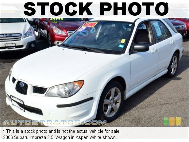 Stock photo for this 2006 Subaru Impreza 2.5i Wagon 2.5 Liter SOHC 16-Valve VVT Flat 4 Cylinder 5 Speed Manual