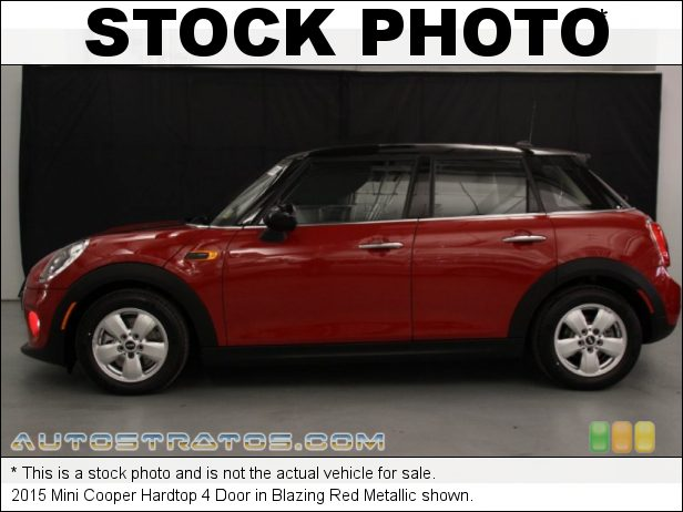 Stock photo for this 2015 Mini Cooper Hardtop 4 Door 1.5 Liter TwinPower Turbocharged DOHC 12-Valve VVT 3 Cylinder 6 Speed Manual