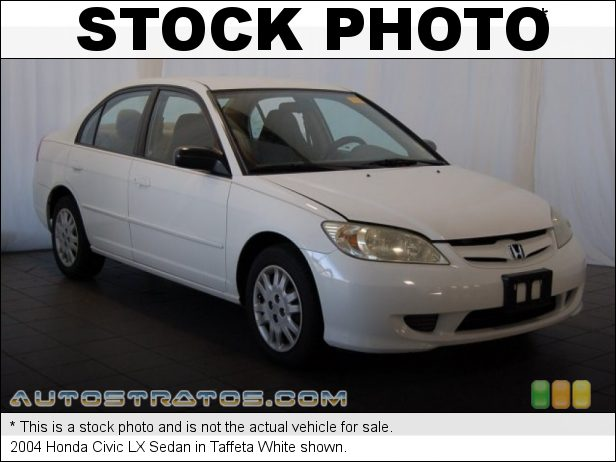 Stock photo for this 2004 Honda Civic LX Sedan 1.7L SOHC 16V VTEC 4 Cylinder 4 Speed Automatic