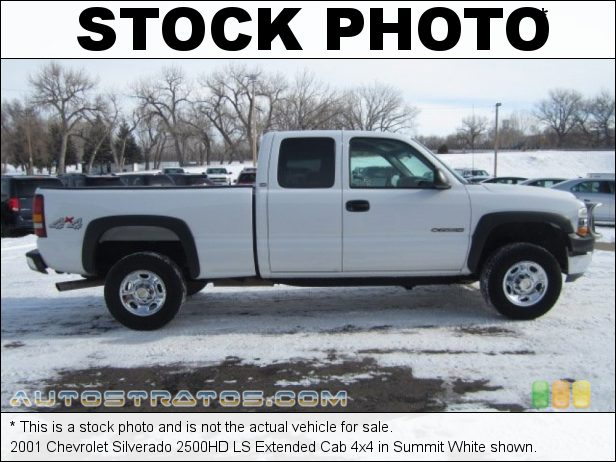 Stock photo for this 2001 Chevrolet Silverado 2500HD LS Extended Cab 4x4 6.0 Liter OHV 16-Valve Vortec V8 4 Speed Automatic