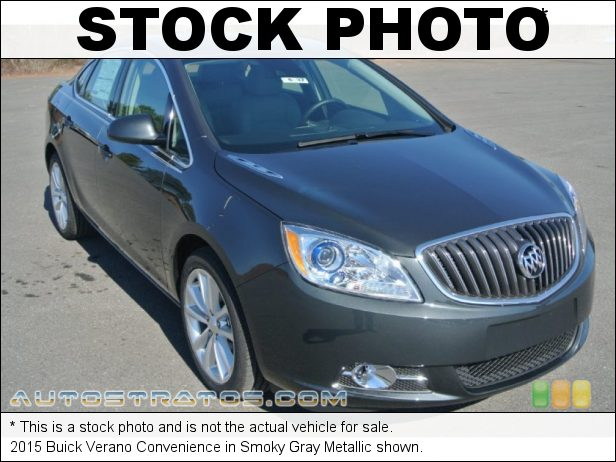 Stock photo for this 2015 Buick Verano Convenience 2.4 Liter DI DOHC 16-Valve VVT 4 Cylinder 6 Speed Automatic
