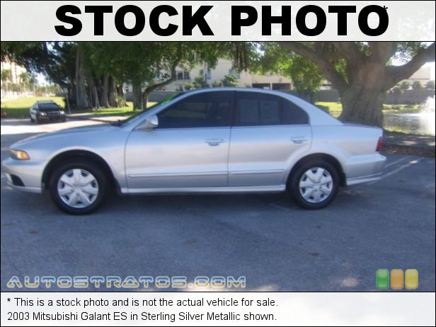 Stock photo for this 2003 Mitsubishi Galant ES 2.4 Liter SOHC 16 Valve 4 Cylinder 4 Speed Automatic