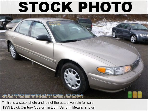 Stock photo for this 1999 Buick Century Custom 3.1 Liter OHV 12-Valve V6 4 Speed Automatic