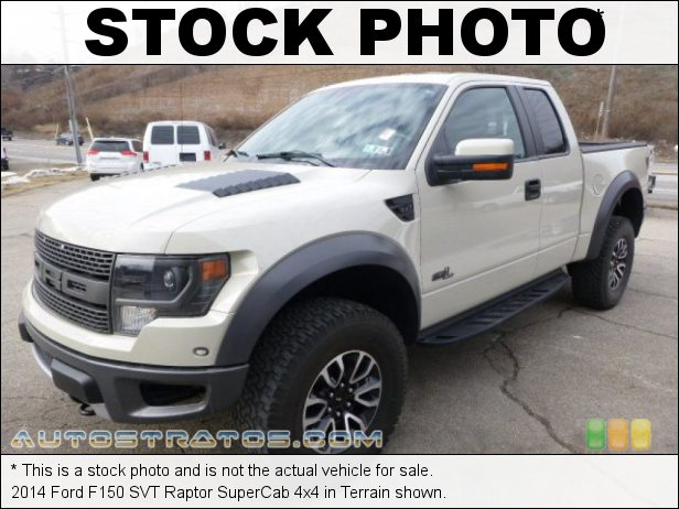 Stock photo for this 2014 Ford F150 SVT Raptor SuperCab 4x4 6.2 Liter SOHC 16-Valve VCT V8 6 Speed Automatic