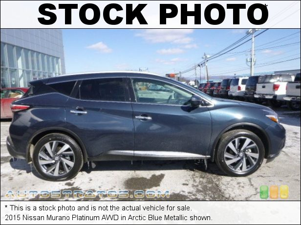 Stock photo for this 2015 Nissan Murano Platinum AWD 3.5 Liter DOHC 24-Valve V6 Xtronic CVT Automatic