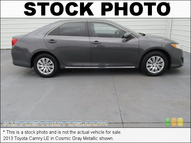 Stock photo for this 2013 Toyota Camry LE 2.5 Liter DOHC 16-Valve Dual VVT-i 4 Cylinder 6 Speed ECT-i Automatic