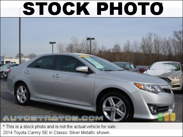 Stock photo for this 2014 Toyota Camry SE 2.5 Liter DOHC 16-Valve Dual VVT-i 4 Cylinder 6 Speed ECT-i Automatic