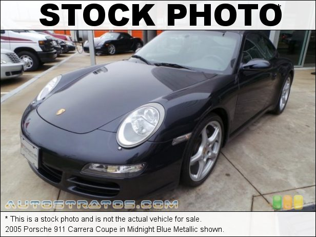 Stock photo for this 2005 Porsche 911 Carrera Coupe 3.6 Liter DOHC 24V VarioCam Flat 6 Cylinder 6 Speed Manual
