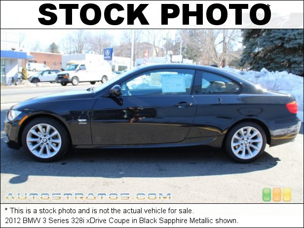 Stock photo for this 2012 BMW 3 Series 328i xDrive Coupe 3.0 Liter DOHC 24-Valve VVT Inline 6 Cylinder 6 Speed Steptronic Automatic