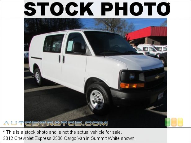 Stock photo for this 2012 Chevrolet Express 2500 Cargo Van 4.8 Liter Flex-Fuel OHV 16-Valve VVT V8 6 Speed Automatic