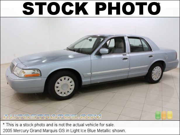 Stock photo for this 2005 Mercury Grand Marquis GS 4.6 Liter SOHC 16 Valve V8 4 Speed Automatic