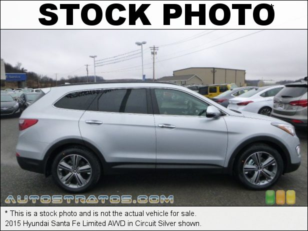 Stock photo for this 2015 Hyundai Santa Fe Limited AWD 3.3 Liter GDI DOHC 16-Valve D-CVVT V6 6 Speed SHIFTRONIC Automatic