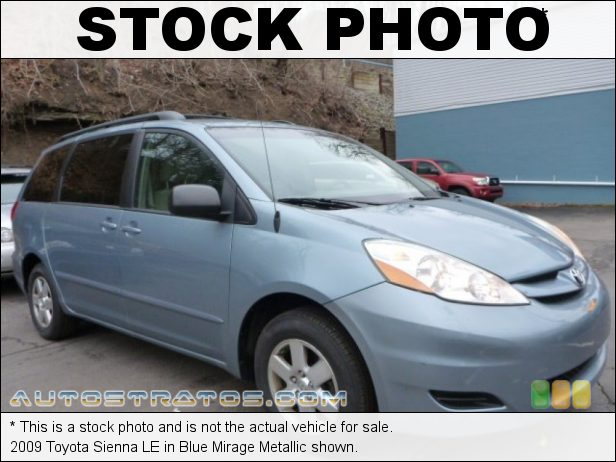 Stock photo for this 2009 Toyota Sienna  3.5 Liter DOHC 24-Valve VVT-i V6 5 Speed ECT-i Automatic
